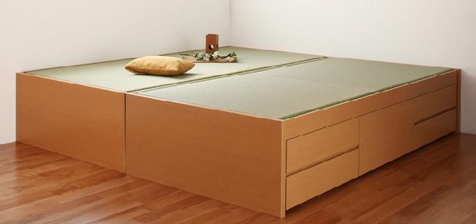 ふたつ並べた畳ベッド